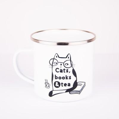 Emajlirani lonček z napisom Cats